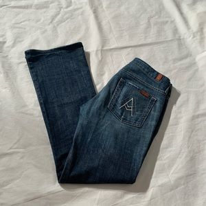 """7 For All Mankind Size 28 Inseam 33"""" A Pocket"""